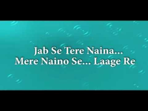 Jab Se Tere Naina, Karaoke.flv video