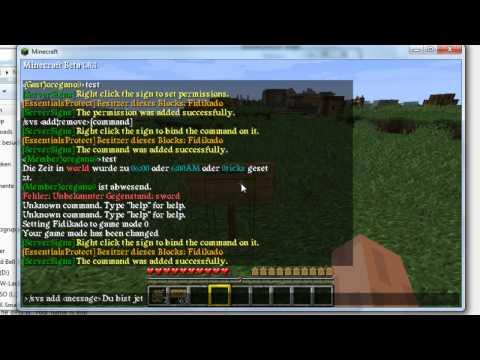 Minecraft Bukkit Server Plugin 1.8.1 : Server Signs -  Schilder mit Befehlen (1337) (Deutsch)