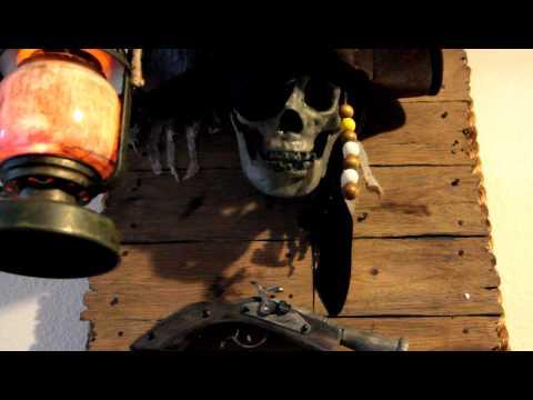 Pirates of the Caribbean Talking Jolly Roger Skull thumbnail