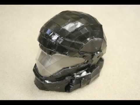Pepakura Halo ODST Helmet - YouTube
