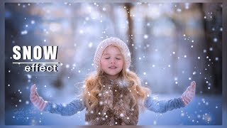 How to Make Winter Snow Effect in Photoshop | Photoshop Tutorial