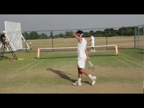 More of the final from the Slazenger touchtennis All England between Chris Eaton and Elliott Mould. Elliott showing passing shots from another planet on his ...