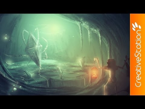 Cave - Speed Painting (#Photoshop) | CreativeStation