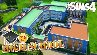 Windenburg HIGH SCHOOL 🎓😍📚 The Sims 4 Speed Build