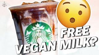 FREE VEGAN Milk At STARBUCKS? | Vegan News | LIVEKINDLY