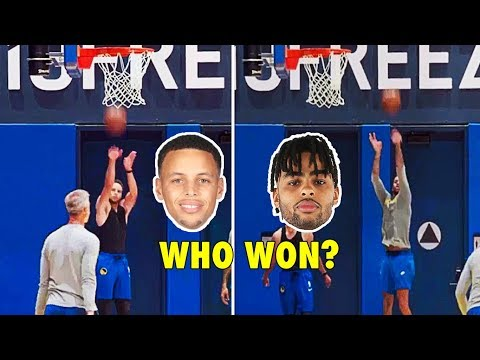 Stephen Curry & D'Angelo Russell in a CLOSE 3-Point Contest!