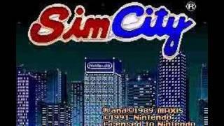 Sim City Opening Screen (SNES)
