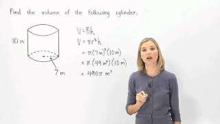 Volume of a Cylinder | MathHelp.com