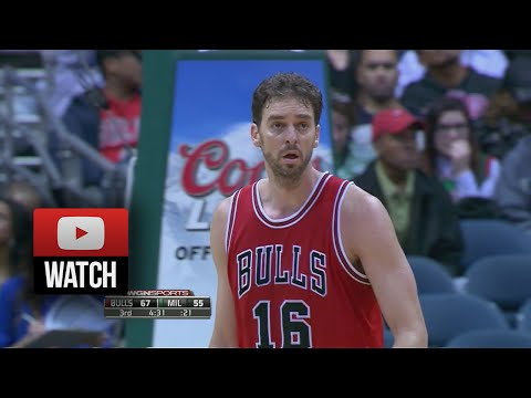 Pau Gasol Full Highlights at Bucks (2014.10.11) - 20 Pts, 11 Reb, 3 Blocks!