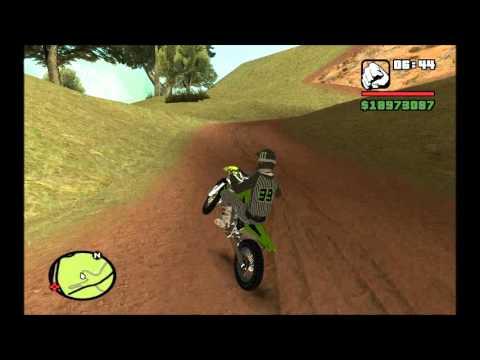 GTA San Andreas    Kawasaki KX + Skin Motocross    Mod*