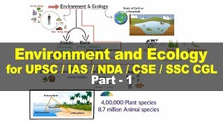Environment and Ecology for UPSC - Concept, Components, Ecosystem - Part 1