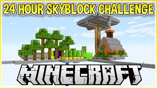 I Played Minecraft Skyblock for 24 Hours Straight!