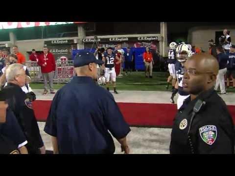 Bronco gets heckled by fan in suspenders