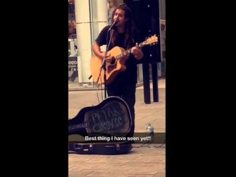 Busker in the Streets of Perth CBD