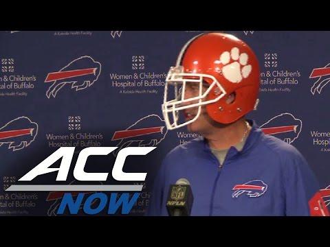 Rex Ryan Wears Clemson Helmet & Brags About the #1 Tigers