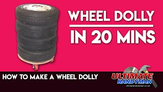 How to make a wheel storage dolly