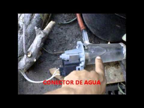Molino para fuente de agua con bomba casera youtube for Fabricar estanque
