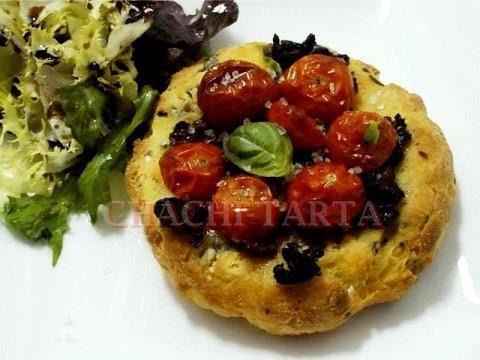 CHACHI-TARTA: Panecillos con albahaca y tomate (sin gluten)