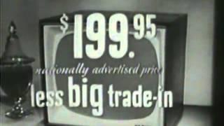 VINTAGE 1956 RCA VICTOR TV SET COMMERCIAL
