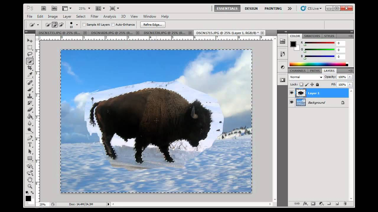 how to add a layer in photoshop cs5