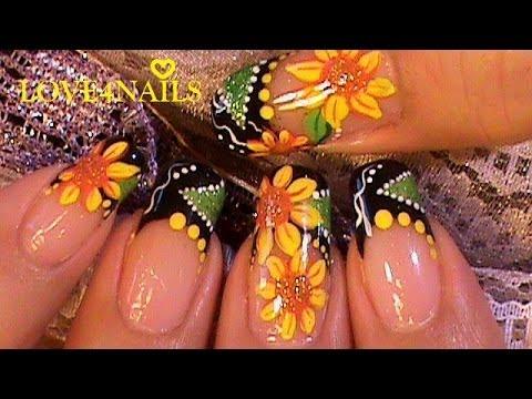 Como pintar girasoles en sus u as esta primavera paso a - Unas modelos para pintar ...