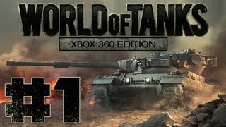 "World Of Tanks Xbox 360 Edition Gameplay - Part 1 ""BASIC TRAINING"""