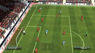 FIFA 14 - Simulacion / liverpool vs Manchester City / Premier League - Jornada 34