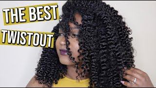 The Best Twistout on Type 3/4 Natural Hair