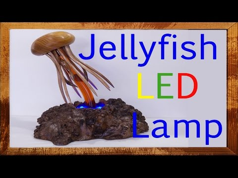 How To Make A LED Lamp DIY Woodworking Project