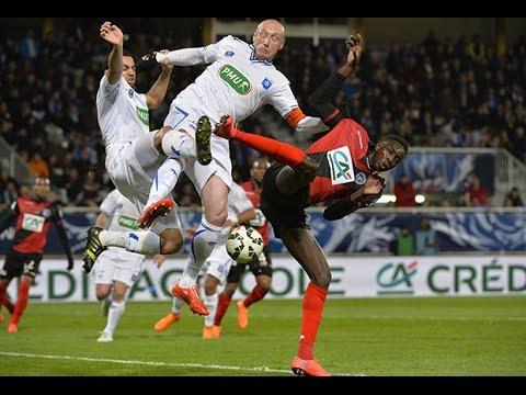 Coupe de France : 1/2 finales : AJ Auxerre - EA Guingamp : 1-0, but et temps forts !