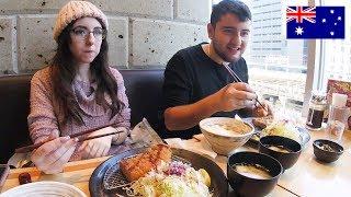 とんかつ定食!アニオタのオーストラリア人カップル!Delicious Pork Cutlet in Tokyo!