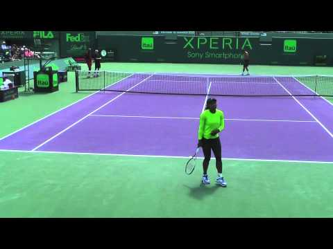 Serena Williams at Sony Ericsson Open 2012