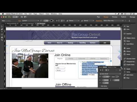 See 3 New Features in Adobe Muse CC for the August 2014 Update