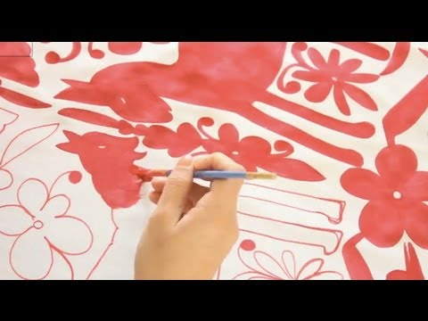 DIY Otomi Fabric, ThreadBanger How-to