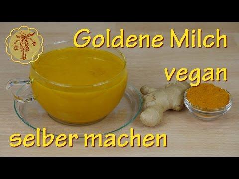 Goldene Milch selber machen - vegan - mit Kurkuma