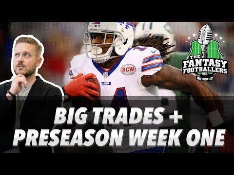 Fantasy Football 2017 Big Trades Rising Stars Rookie Recap Pre