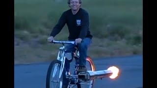 Home made jet bike doing 50MPH Robert Maddox