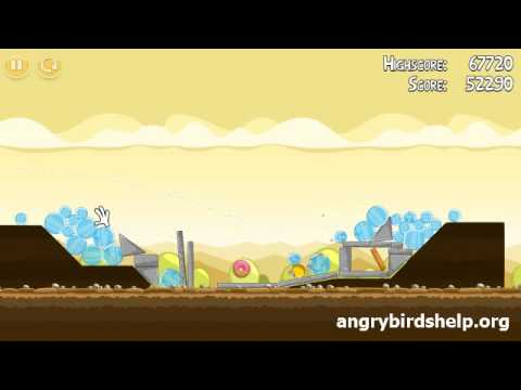 Angry Birds Level 5-13 - 3 Star Walkthrough