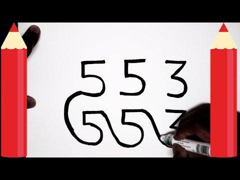 [ HINDI ] How to draw dog from 553 number step by step - Very Easy