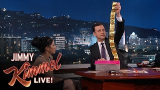 Jimmy Kimmel Goes Through Sarah Silverman's Purse