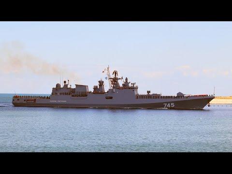 Новейший фрегат Адмирал Григорович впервые входит в Севастопольскую бухту