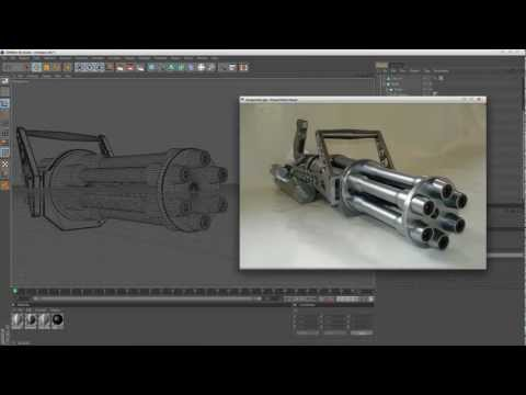 My channel and an MINIGUN model under construction