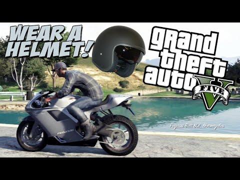 GTA V - Wear a Helmet! (Freeroam)