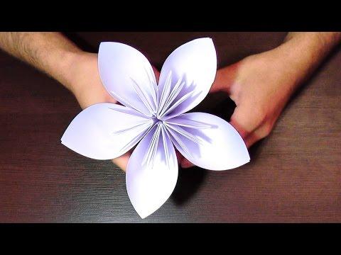 Быстро цветы из бумаги своими руками 80