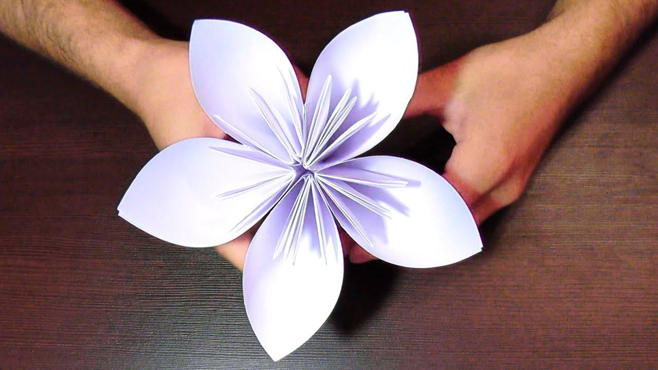 Поделка цветок из бумаги как сделать