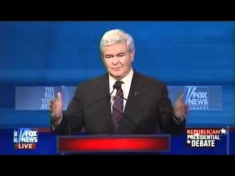 Jan 16, 2012 GOP Fox News Debate - Part 6