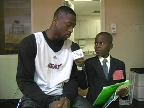 Dwyane Wade is Interviewed by Student Reporter Damon Weaver Video