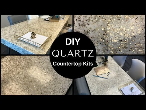 "DIY 4"" Thick Quartz Countertop Desktop Epoxy Coating"