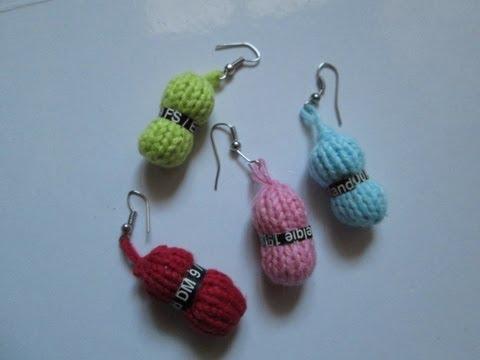 Diy tuto apprendre a tricoter des boucles d 39 oreilles - Fabriquer un porte boucle d oreille ...