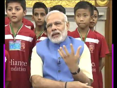 PM Shri Narendra Modi attends launch of Reliance Foundation Youth Sports via video conference